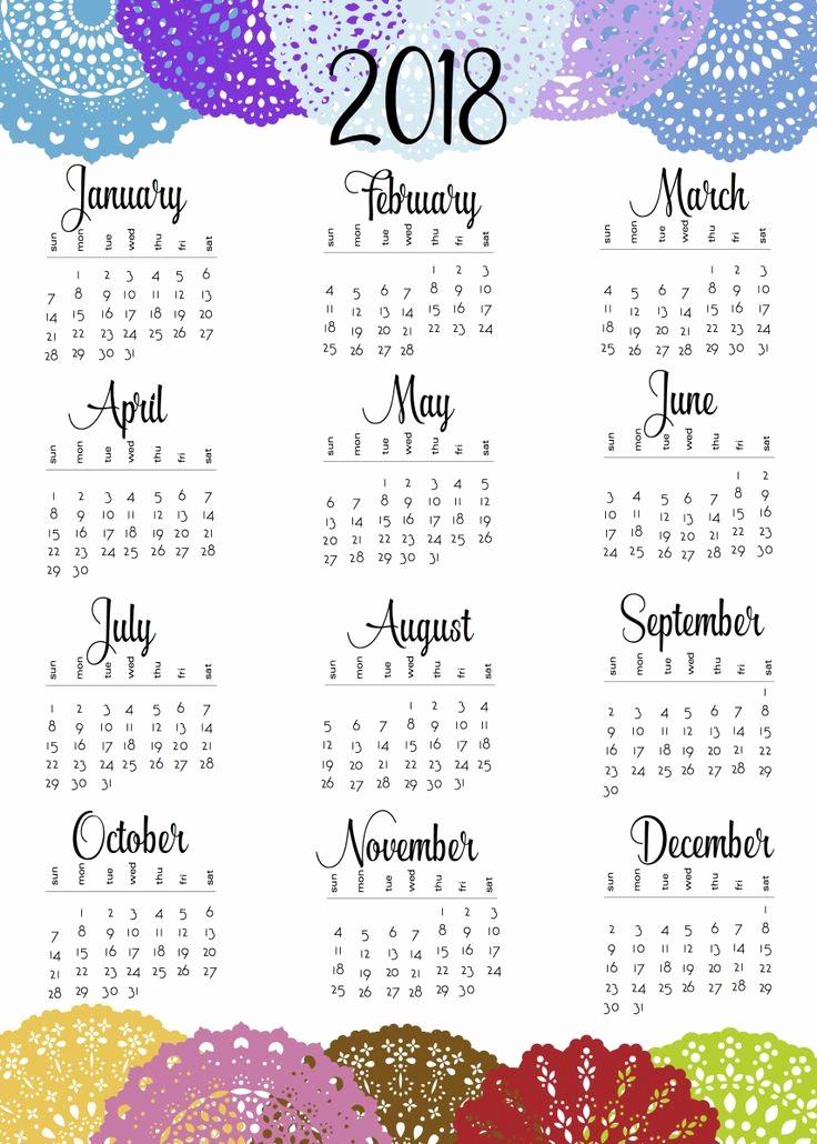Printable 2018 and 2019 Calendar Lovely Best 25 Calendar 2018 Ideas On Pinterest