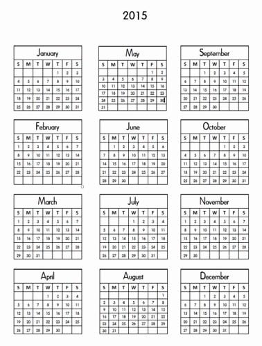 Printable 3 Month Calendar 2015 Elegant Printable Mini Calendar