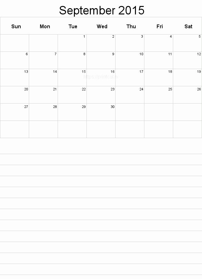 Printable 3 Month Calendar 2015 Fresh Printable September 2015 Calendar Template 3 Half Page