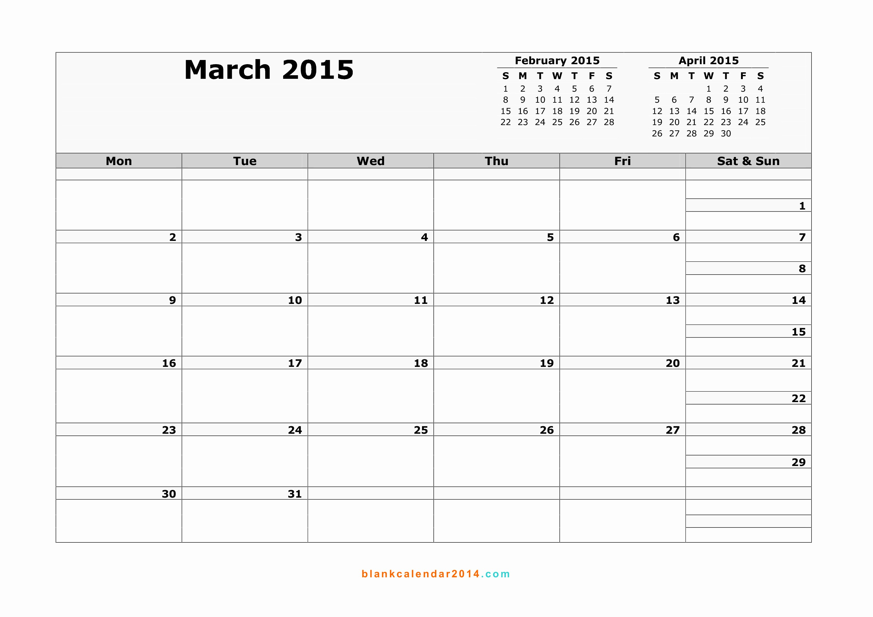 Printable 3 Month Calendar 2015 Inspirational 11 Best Of Printable 3 Month Calendar Template 2015
