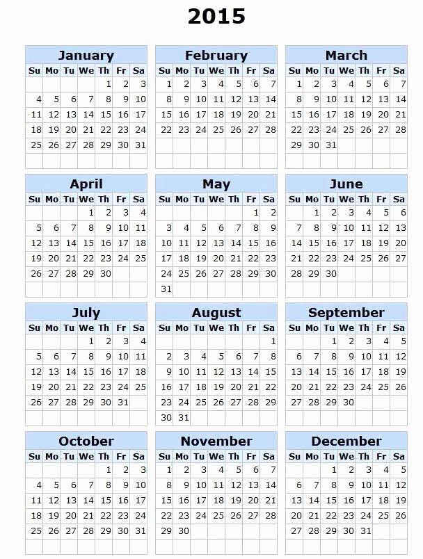 Printable 3 Month Calendar 2015 Unique Printable 2015 Calendar Calendars
