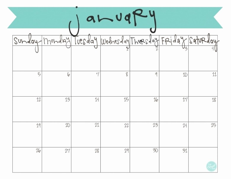 Printable 3 Month Calendar 2017 Beautiful 2017 Monthly Calendar Printable Free Free Calendar Template