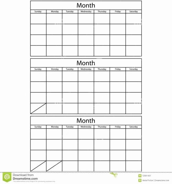 Printable 3 Month Calendar 2017 Inspirational Free Printable 3 Month Calendar Template