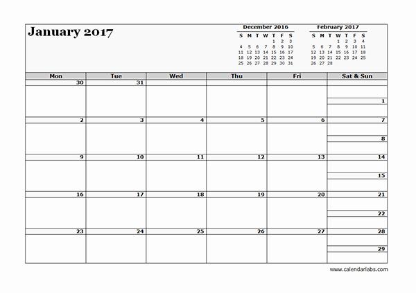 Printable 3 Month Calendar 2017 Unique 2017 Three Month Calendar Template Free Printable Templates