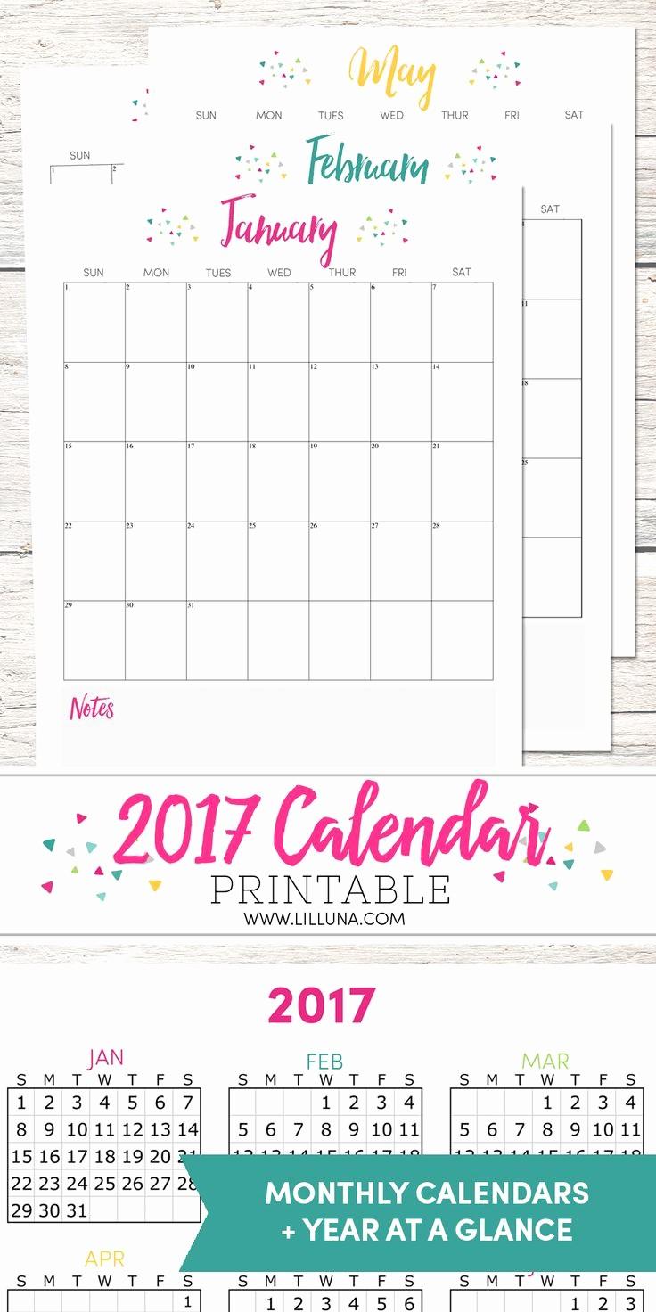 Printable 3 Month Calendar 2017 Unique 25 Best Ideas About Printable Calendars On Pinterest