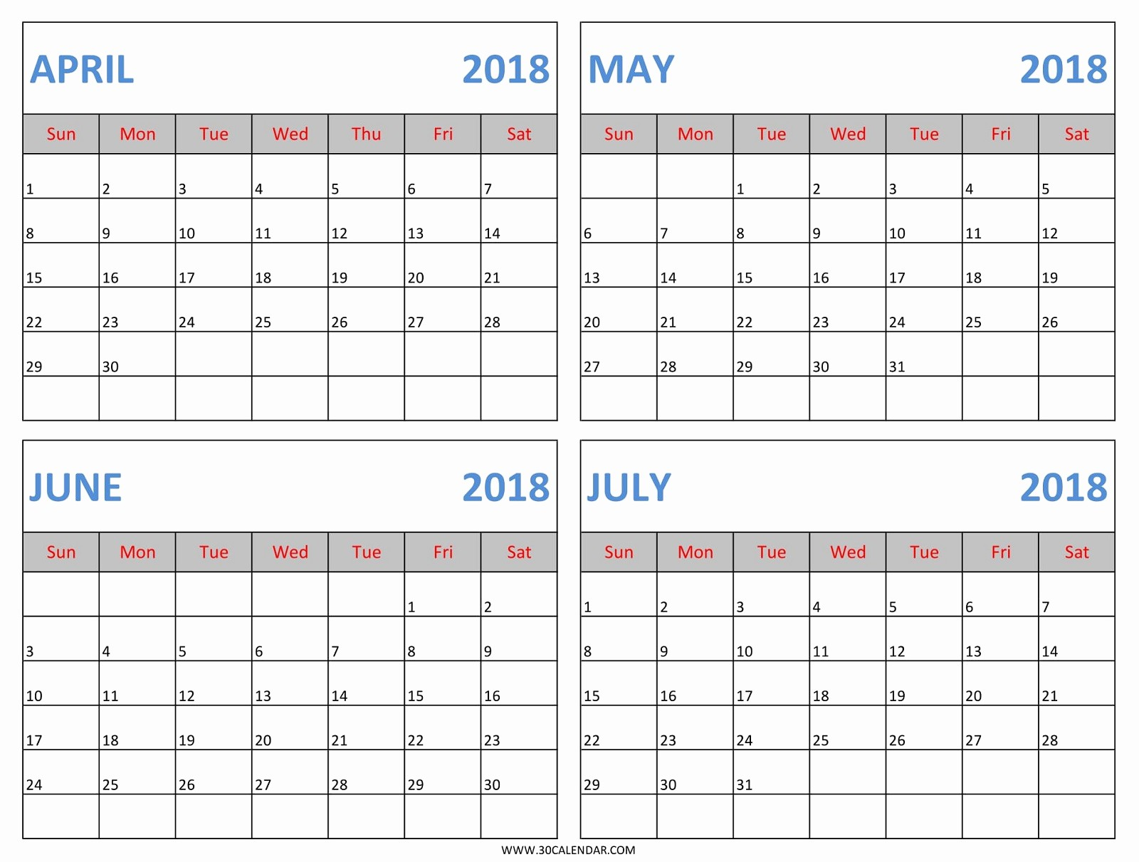 Printable 4 Month Calendar 2017 Fresh Beautiful Printable Calendar July 2017 Cute