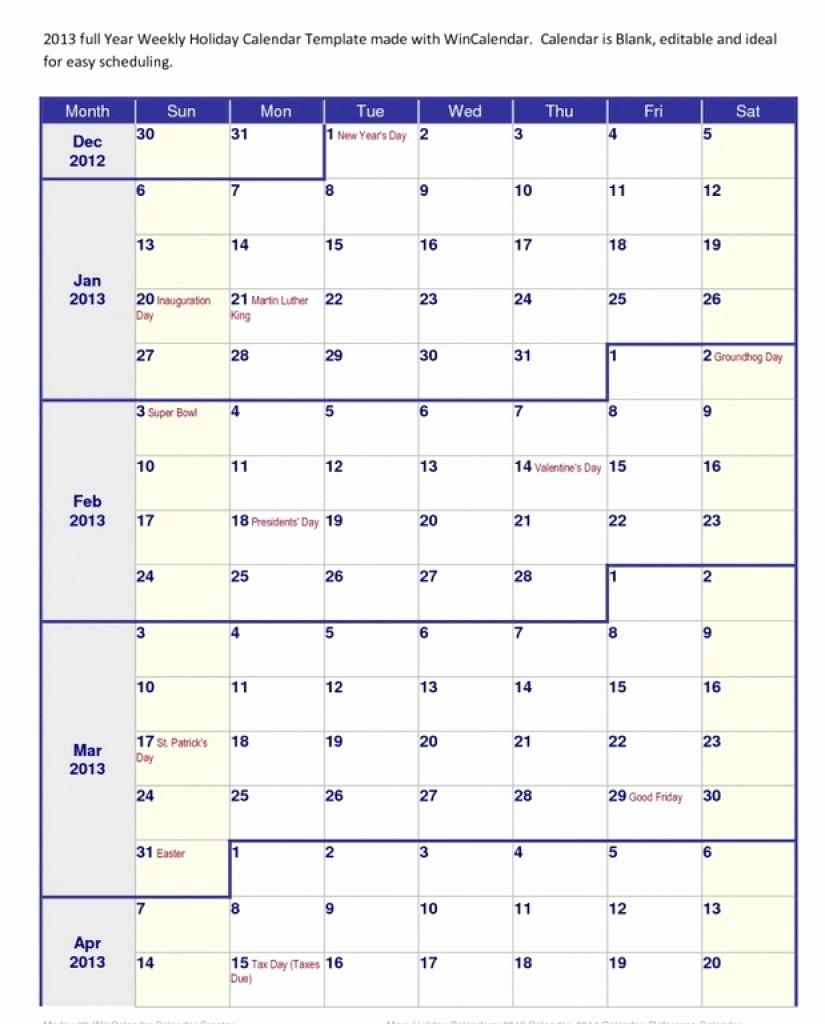 Printable 4 Month Calendar 2017 Luxury 4 Month Calendar Template
