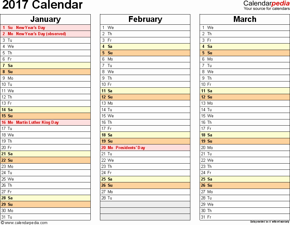 Printable 4 Month Calendar 2017 New Fiscal Year Calendar 2016 2017 Printable