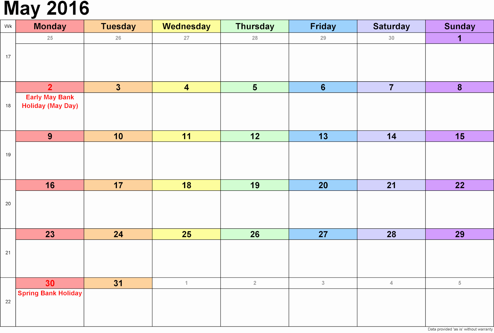 Printable 6 Month Calendar 2016 Beautiful Blank Calendar 2016