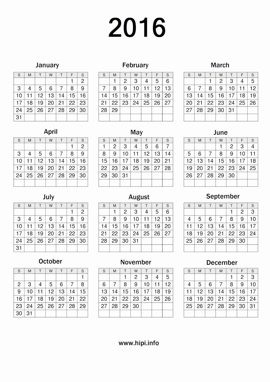 Printable 6 Month Calendar 2016 Beautiful Printable Calendar 2016 A3 Size
