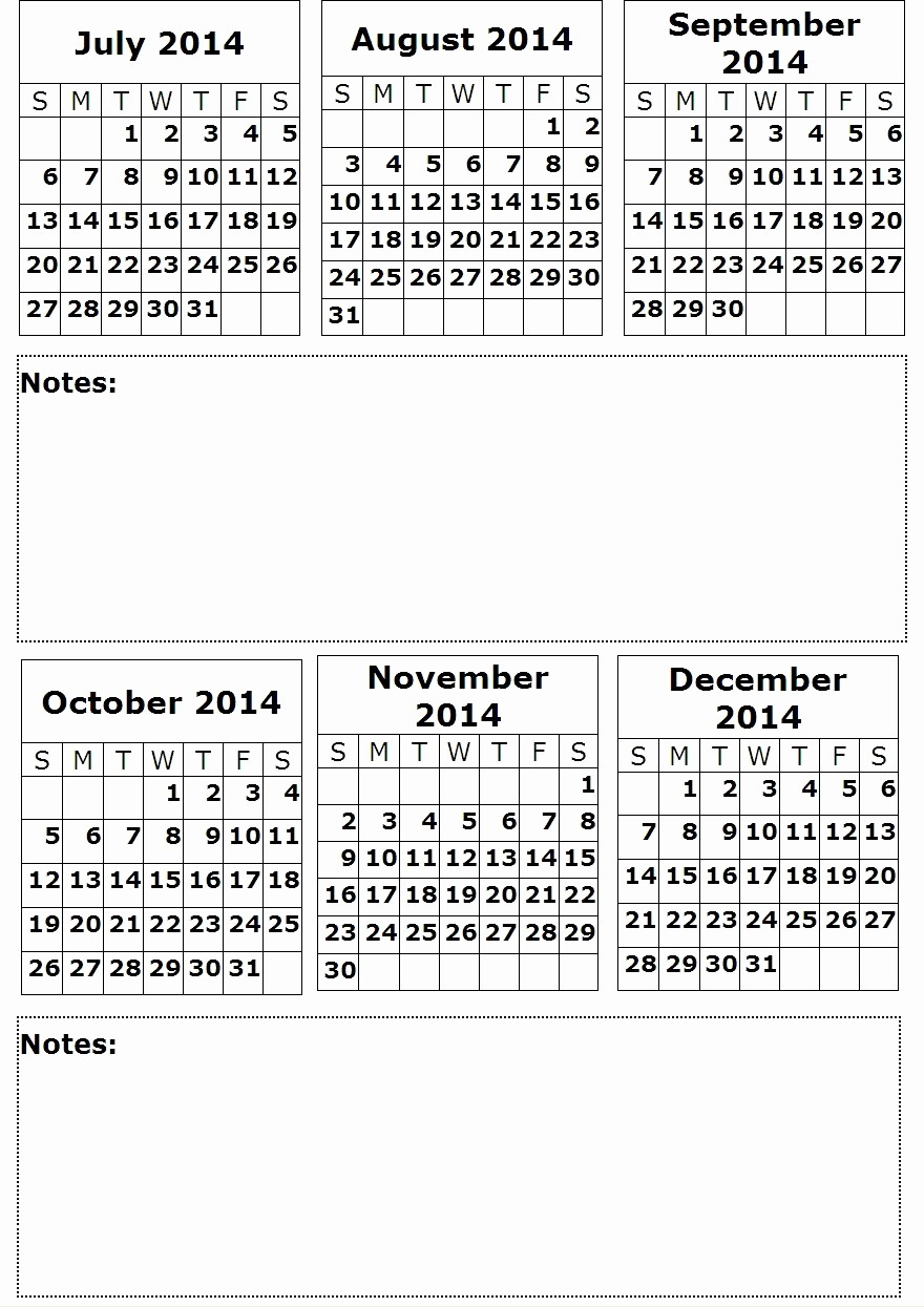 Printable 6 Month Calendar 2016 Beautiful Quarterly Calendar Printable 2016