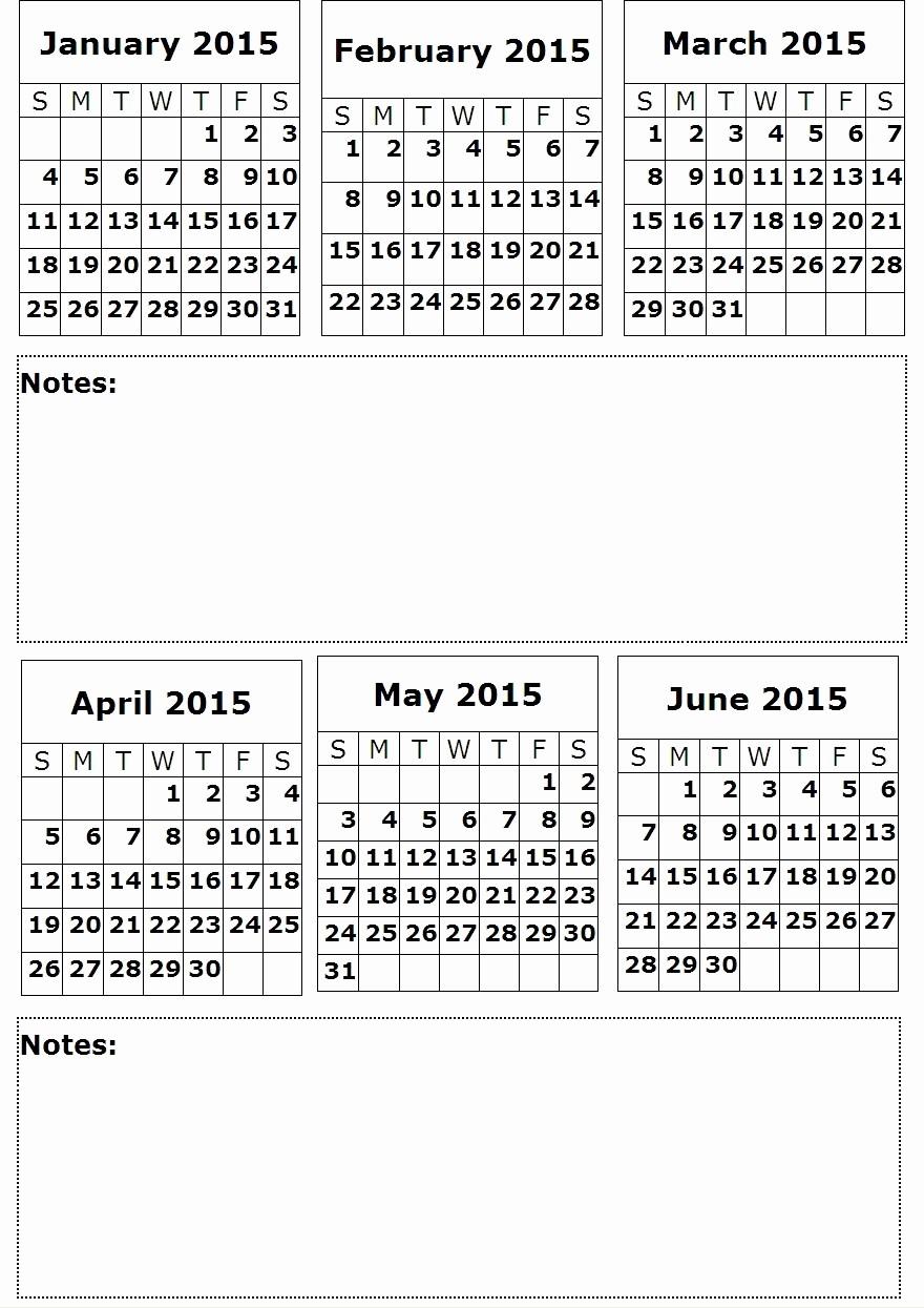 Printable 6 Month Calendar 2016 Elegant 8 Best Of 6 Month Planner Calendar 2016 Printable