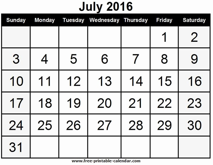 Printable 6 Month Calendar 2016 Fresh July 2016 Calendar Printable Calendar