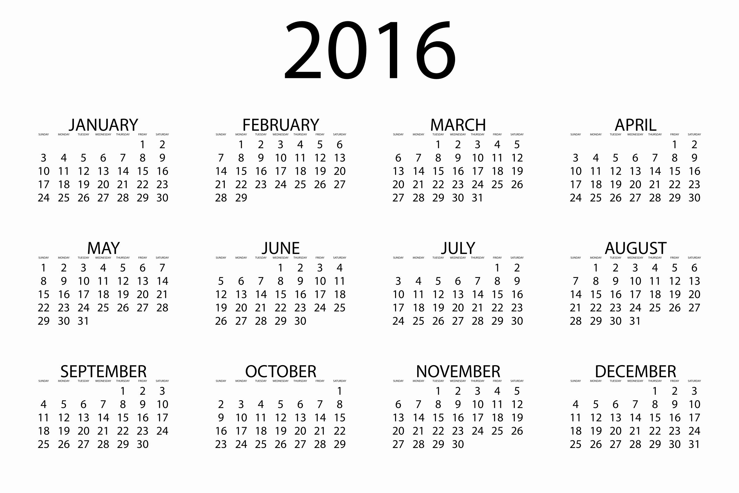 Printable 6 Month Calendar 2016 Lovely 2016 Calendars Printable