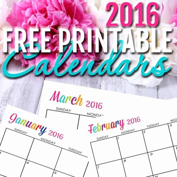Printable 6 Month Calendar 2016 Luxury Calendar 2016 Calendar and Printable Calendars On Pinterest