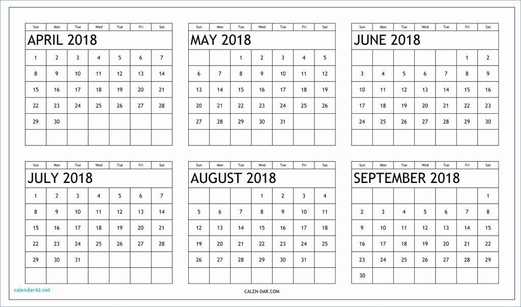 Printable 6 Month Calendar 2018 Awesome 6 Month E Page Calendar 2018