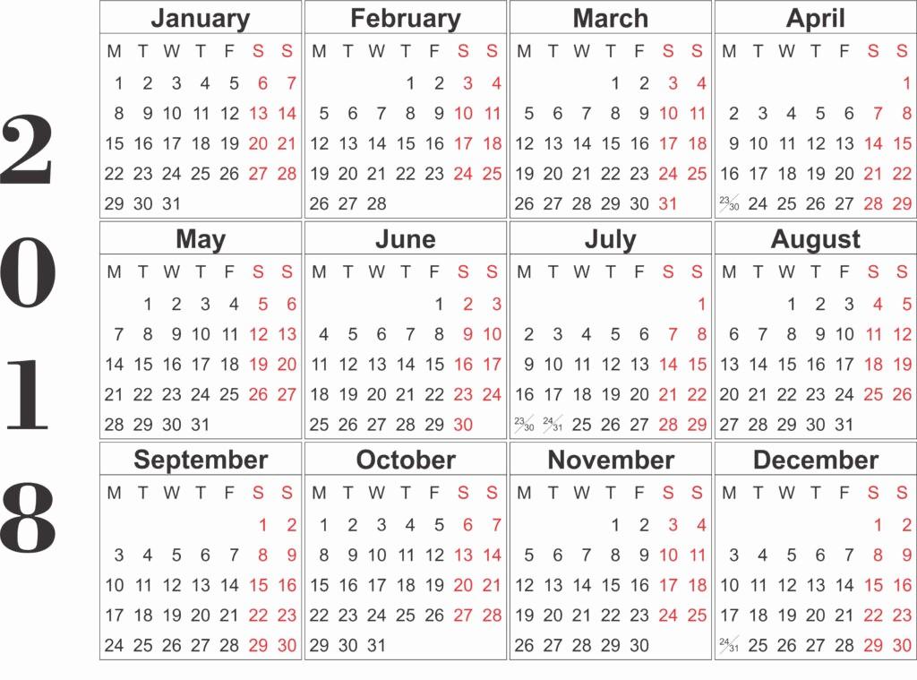 Printable 6 Month Calendar 2018 Awesome top 15 Calendar 2018 Templates