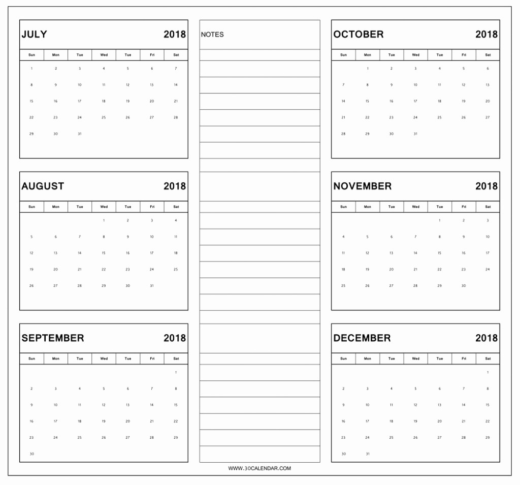 Printable 6 Month Calendar 2018 Best Of 6 Month E Page Calendar 2018