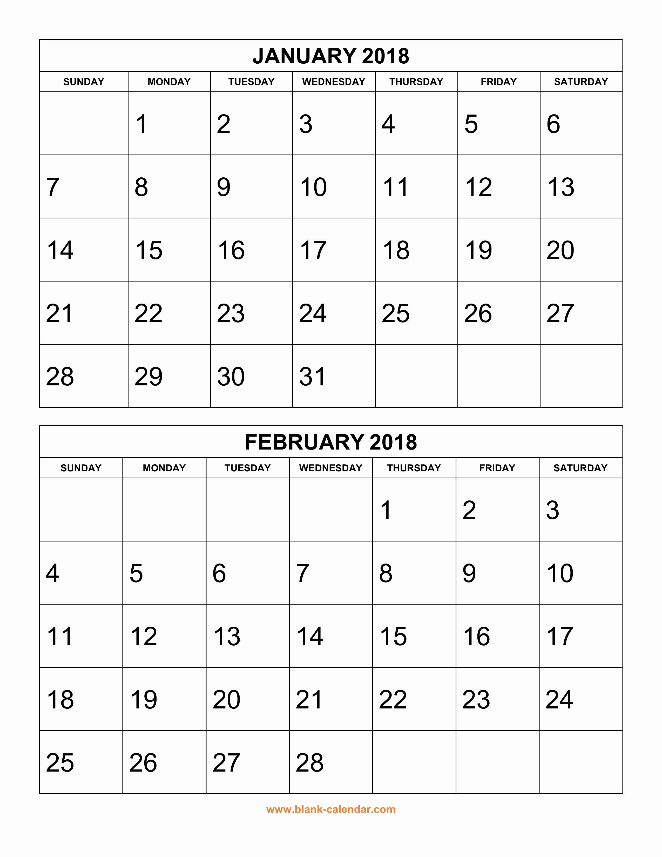 Printable 6 Month Calendar 2018 Inspirational Free Download Printable Calendar 2018 2 Months Per Page