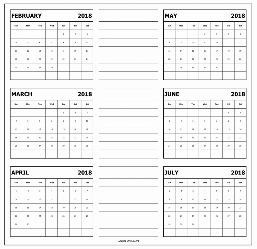 Printable 6 Month Calendar 2018 Lovely 6 Month E Page Calendar 2018