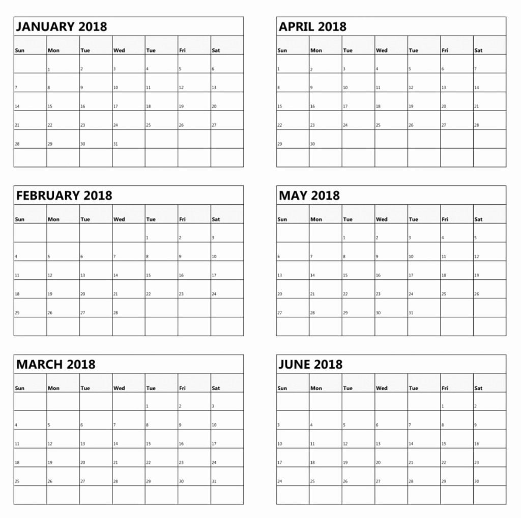 Printable 6 Month Calendar 2018 Luxury 6 Month E Page Calendar 2018
