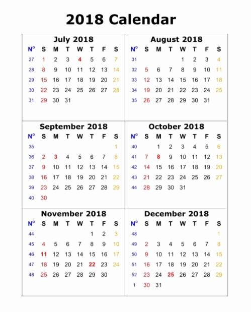 Printable 6 Month Calendar 2018 New 6 Month E Page Calendar 2018
