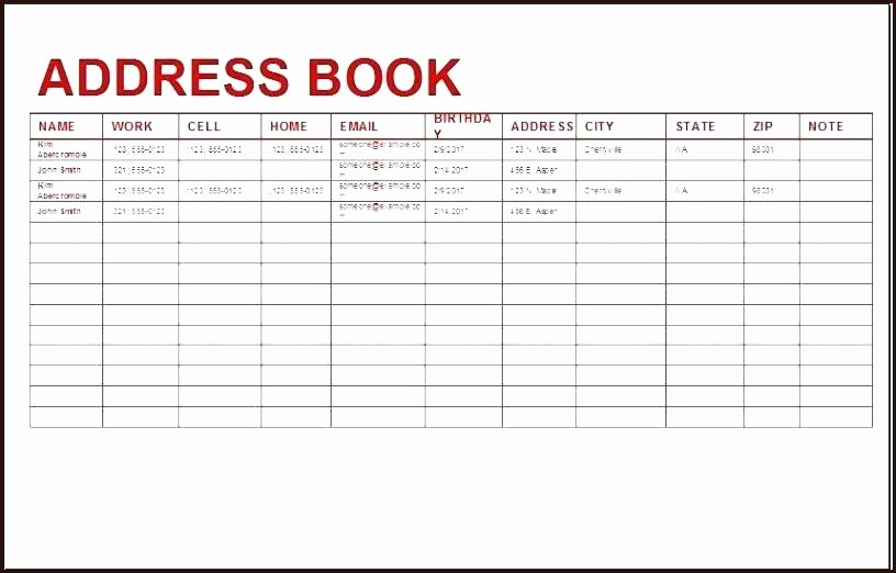 Printable Address Book Template Word Fresh Printable Address Book Template Phone Directory Instant