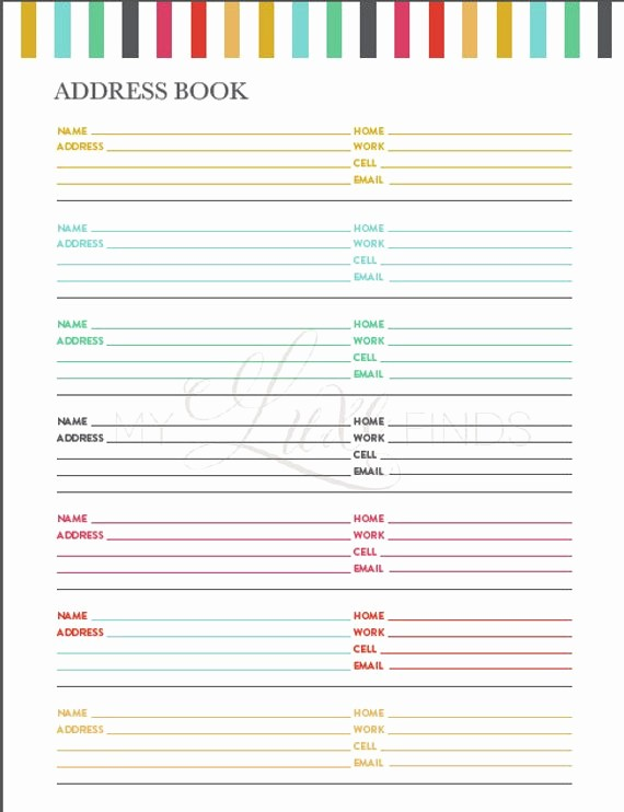 Printable Address Book Template Word Unique Creating An Address Book Template Music Search Engine at