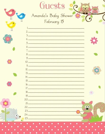 Printable Baby Shower Guest List Fresh Baby Shower Guest List who to Invite Cool Baby Shower Ideas