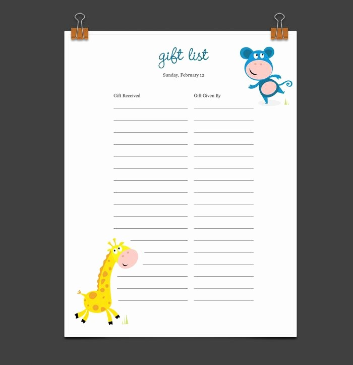 Printable Baby Shower Guest List New 8 Best Baby Showers Images On Pinterest