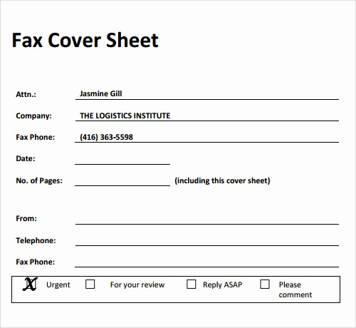 Printable Basic Fax Cover Sheet Elegant Fax Cover Sheet 27 Download Free Documents In Pdf