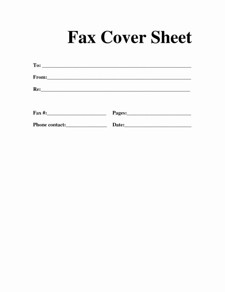 Printable Basic Fax Cover Sheet Elegant Fax Cover Sheet Fax Template Fax Cover Sheet Template