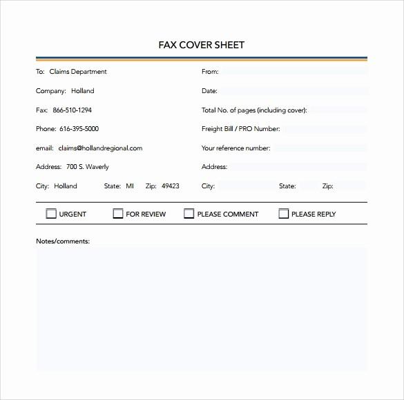 Printable Basic Fax Cover Sheet Inspirational 8 Basic Fax Cover Sheet Samples
