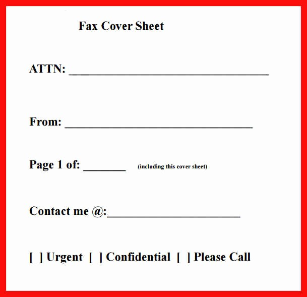 Printable Basic Fax Cover Sheet Inspirational Printable Fax Cover Sheet