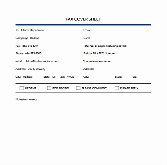 Printable Basic Fax Cover Sheet Lovely Basic Fax Coversheet