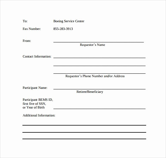 Printable Basic Fax Cover Sheet Luxury 8 Basic Fax Cover Sheet Samples