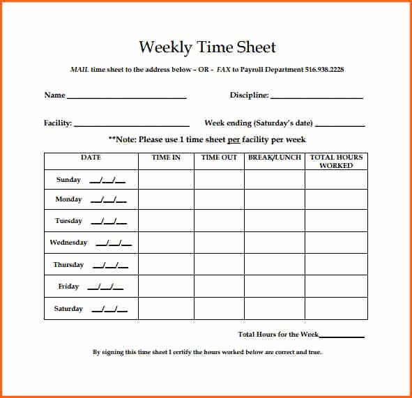 Printable Bi Weekly Time Sheets Luxury 5 Weekly Timesheet Template Bud Template Letter