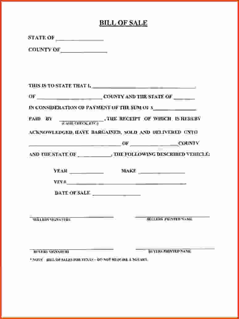 Printable Bill Of Sale Ga Elegant Bill Sale Template Ga form New Sampleo Motor Vehicle