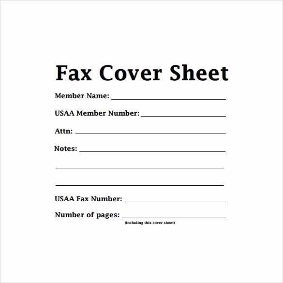 Printable Blank Fax Cover Sheet New 8 Confidential Fax Cover Sheet Templates to Download