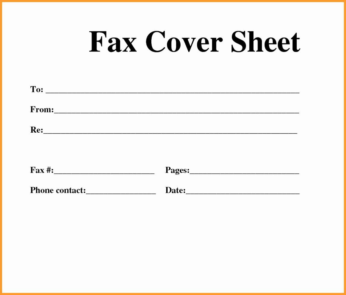 Printable Blank Fax Cover Sheet New Free Fax Template