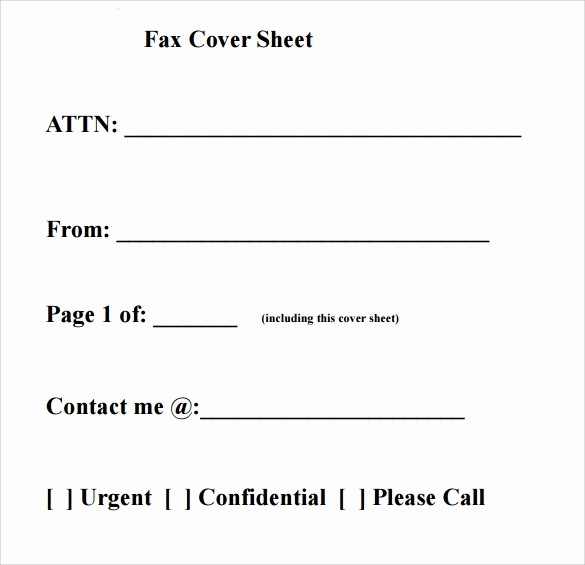Printable Blank Fax Cover Sheet Unique 28 Fax Cover Sheet Templates