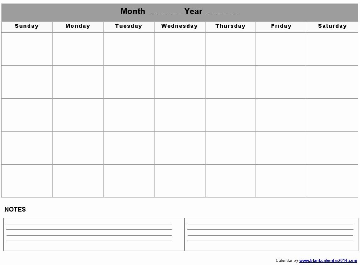 Printable Blank Monthly Calendar Template Best Of 5 Best Of Monthly Calendar Printable Landscape