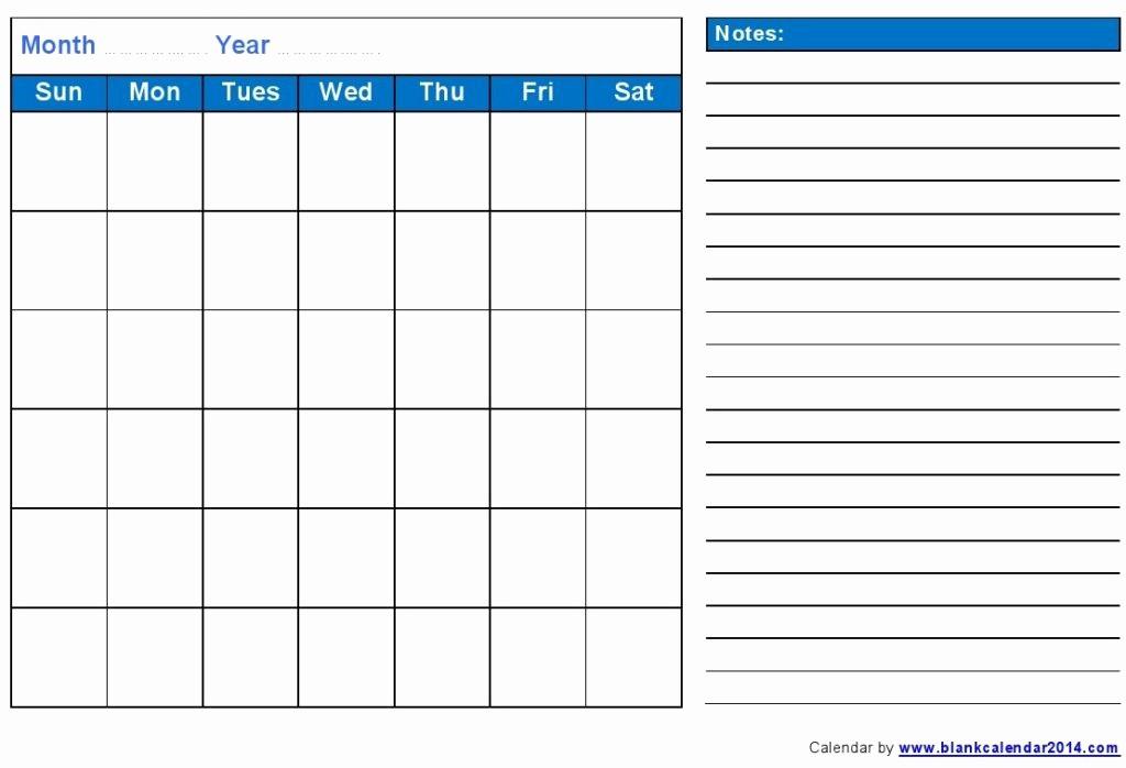 Printable Blank Monthly Calendar Template Best Of August 2016 Calendar