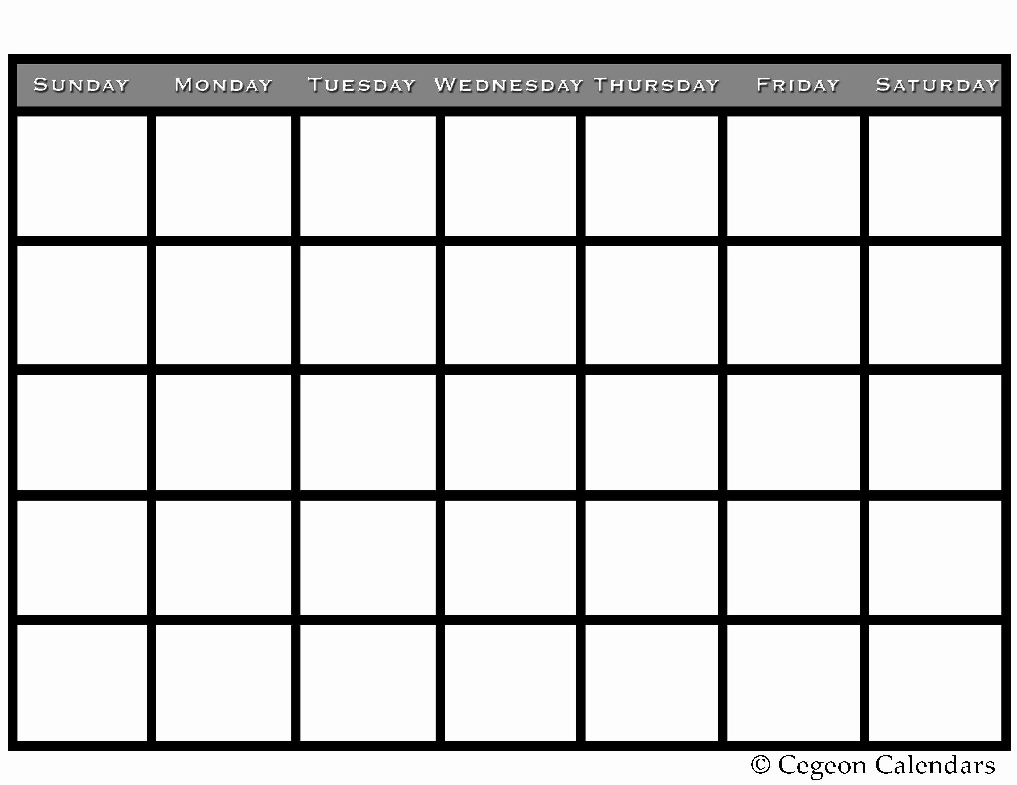 Printable Blank Monthly Calendar Template Best Of Get Your Free Printable Blank Calendar