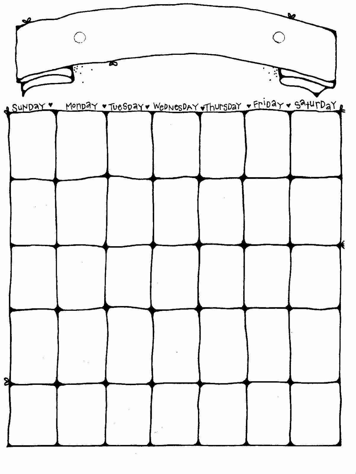 Printable Blank Monthly Calendar Template Fresh 14 Blank Activity Calendar Template Printable