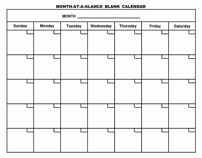 Printable Blank Monthly Calendar Template Fresh Blank 12 Month Calendar Template 2017