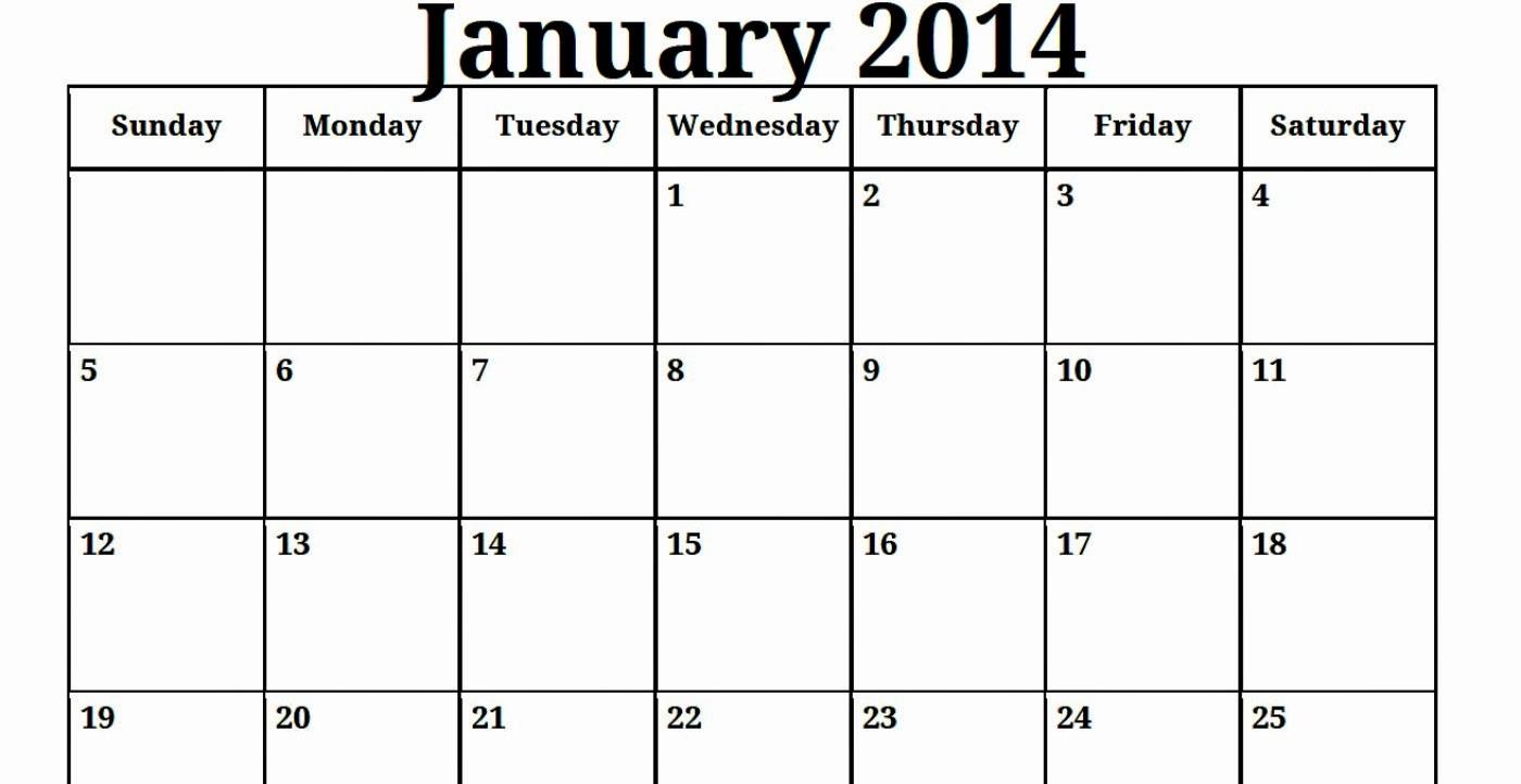 Printable Blank Monthly Calendar Template Fresh Free Printable Calendar Free Printable Calendar January