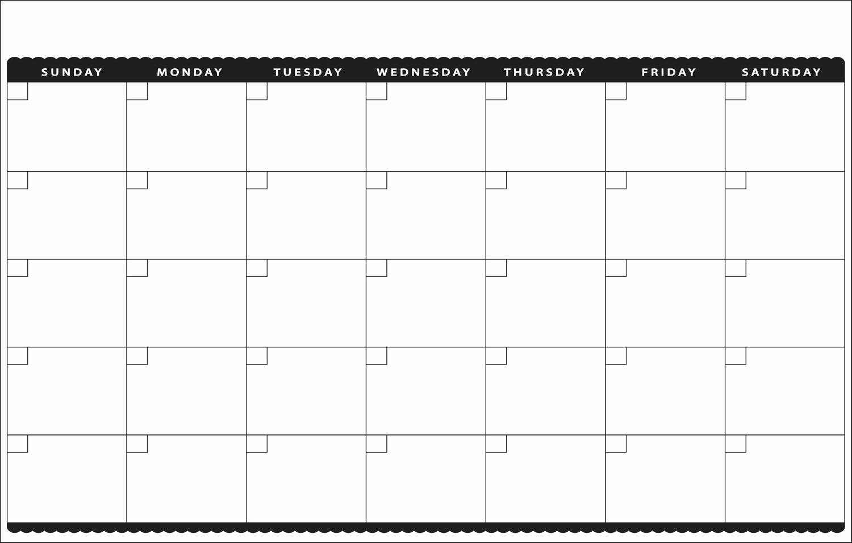 Printable Blank Monthly Calendar Template Inspirational 7 Best Of Cute Printable Blank Calendar Cute
