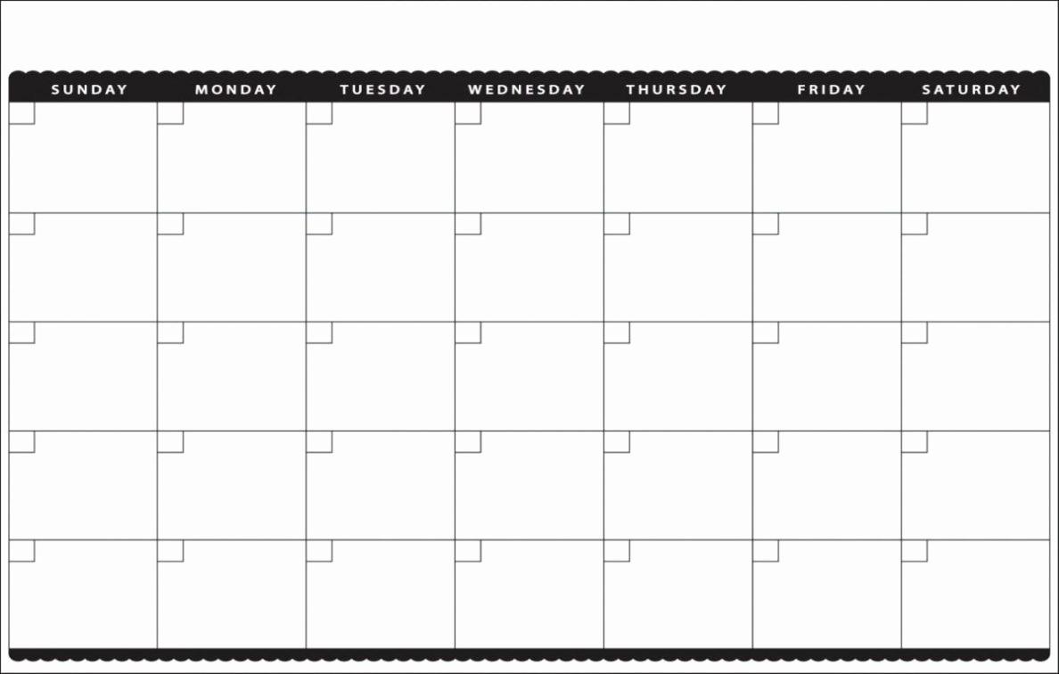 Printable Blank Monthly Calendar Template Inspirational Printable Blank Calendar 2018