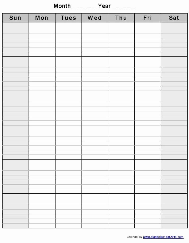 Printable Blank Monthly Calendar Template Lovely August 2016 Calendar
